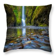 Oneonta Cascades Throw Pillow