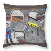 Onieda Coal Mine Throw Pillow
