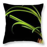 Onion Greens Throw Pillow