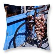 Onion Johnnies Throw Pillow