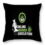 Online Higher Education Throw Pillow