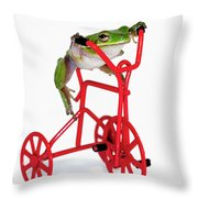 Only 3 More Miles Throw Pillow