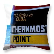 Only 90 Miles To Cuba Throw Pillow