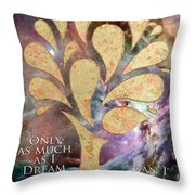 Only As Much As I Dream Can I Be Throw Pillow