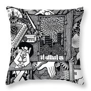 Only I Keep Watch Sleepy Listening Throw Pillow