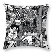 Only I Keep Watch Sleepy Listening Throw Pillow