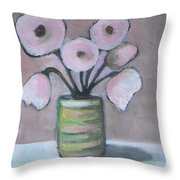 Only White Flowers Throw Pillow