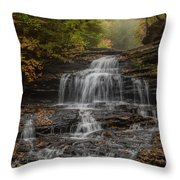 Onondaga Falls  Throw Pillow