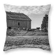 Ontario Farm 4 Bw Throw Pillow