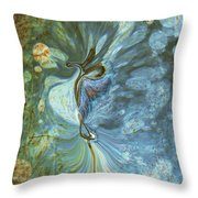Onward Throw Pillow by Linda Sannuti