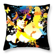 Onxy Doves - Bespattered Throw Pillow
