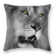 Onyo #6  Black And White  T O C Throw Pillow
