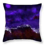 Oocean In The Moonlight  Throw Pillow