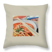 Oodles And Noodles, 2017 Throw Pillow