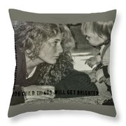 Ooh Child Quote Throw Pillow
