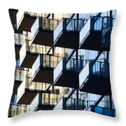 Tiered Balconies Throw Pillow