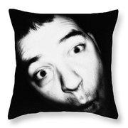 Ooooh Fishy Face Throw Pillow