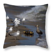 Ducklings In Trouble - Oops Not Into Diversity Throw Pillow