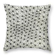 Op Art Abstract Triangle Design Throw Pillow