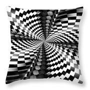 Op Art Twist Throw Pillow