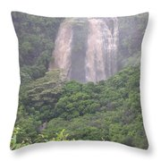 Opaekaa Falls On Kauai During A Storm Throw Pillow