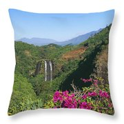 Opaekaa Falls Throw Pillow