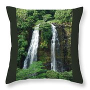 Opaekaa Waterfall Throw Pillow