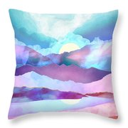 Opal Mountains Throw Pillow