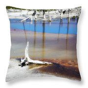 Opalescent Pool Yellowstone Np Throw Pillow
