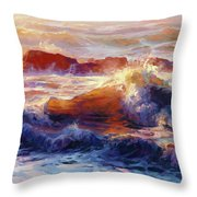 Opalescent Sea Throw Pillow