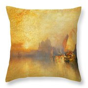 Opalescent Venice Throw Pillow