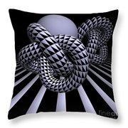 Opart Knots Throw Pillow