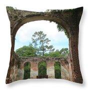 Open Air Church Throw Pillow