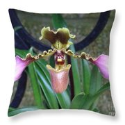 Open Arms Orchid Throw Pillow