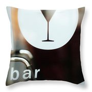 Open Bar Throw Pillow