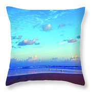 Open Beach Ponce Inlet Atlantic Ocean Throw Pillow