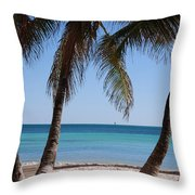 Open Beach View Throw Pillow