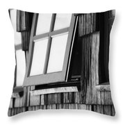 Open Black And White Throw Pillow