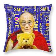 Open Heart, Open Mind - Royal Blue  Throw Pillow