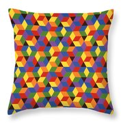 Open Hexagonal Lattice I Throw Pillow
