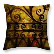 Open Iron Gate Throw Pillow