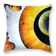 Open Mind. Door To Eternity Throw Pillow