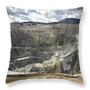 Open Pit Mine, Utah, United States Throw Pillow