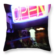 Open Throw Pillow