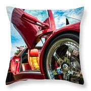 Open Sesame Red - Lamborghini Diablo  Throw Pillow