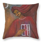 Open The Windows To Your Soul Throw Pillow by Prerna Poojara