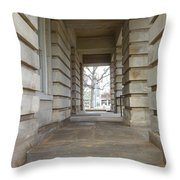 Open Tunnel Throw Pillow