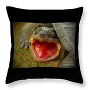 Open Wide Throw Pillow