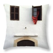 Open Window At The Chani Mestanas Throw Pillow