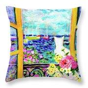 Open Window-colours Throw Pillow